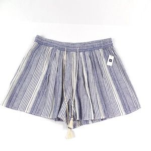 Gap Striped Linen Rayon Pull On Shorts NEW